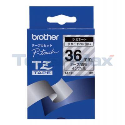 BROTHER P-TOUCH TAPE BLACK/CLEAR (1.5/2 X 50)